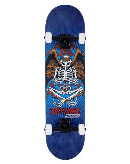 "Birdhouse Skateboard Complète Hawk Birdman 8"" Blue"