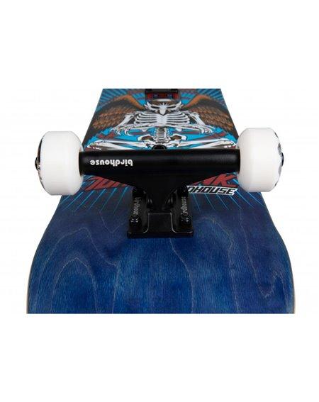 """Birdhouse Hawk Birdman 8"""" Complete Skateboard Blue"""