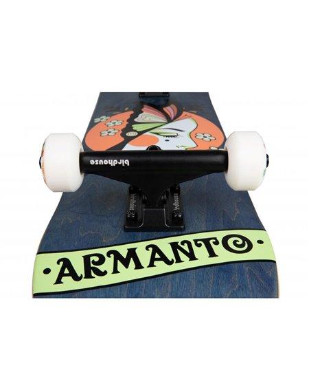 "Birdhouse Armanto Butterfly 8"" Complete Skateboard Blue"