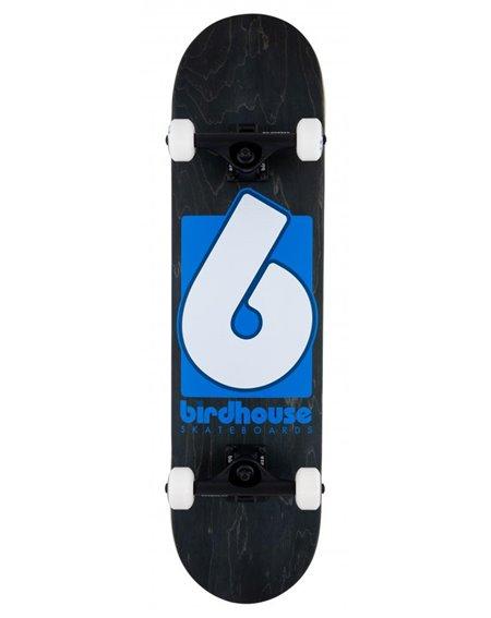 "Birdhouse Skateboard B Logo 2021 8"" Black/Blue"