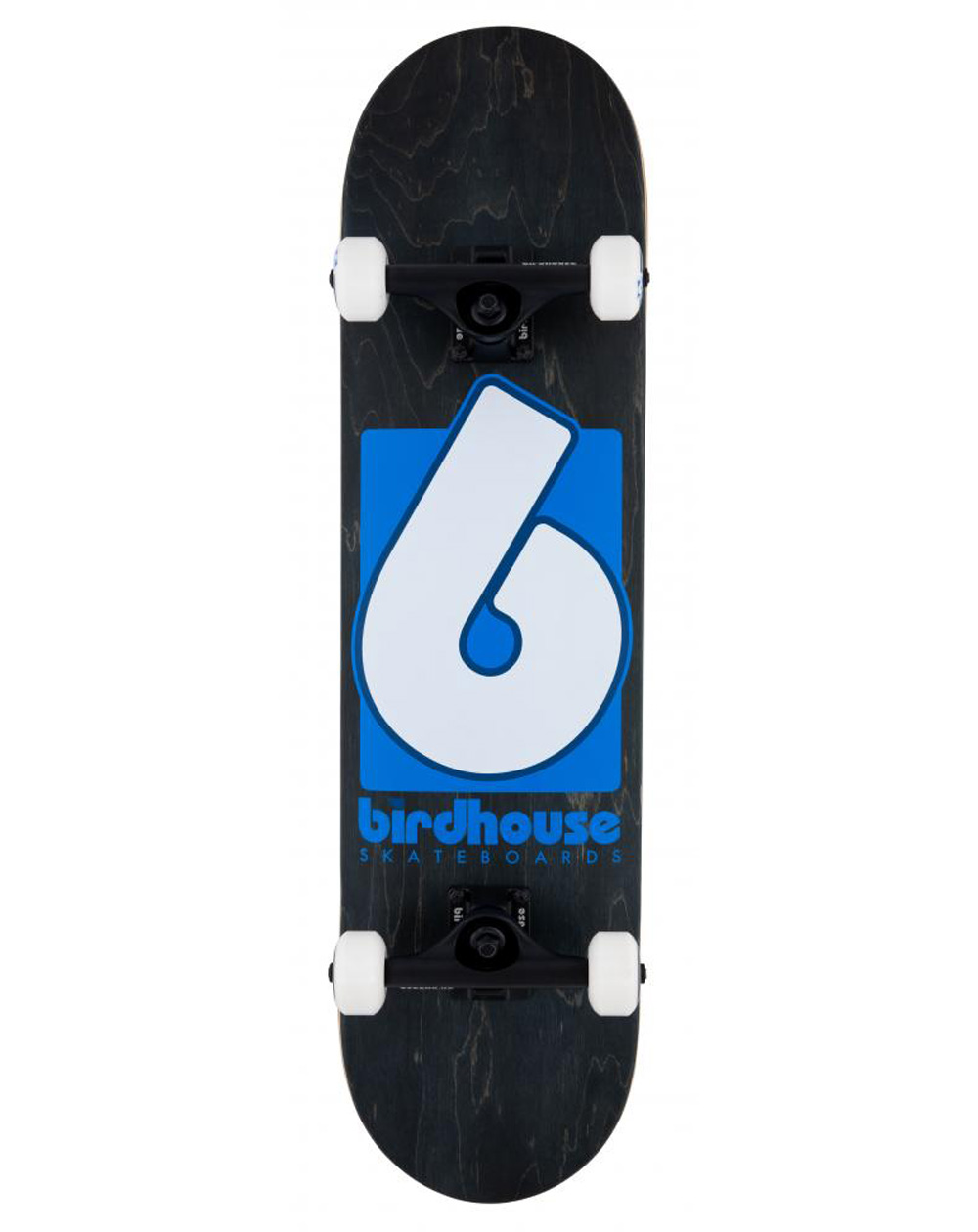 "Birdhouse B Logo 2021 8"" Complete Skateboard Black/Blue"