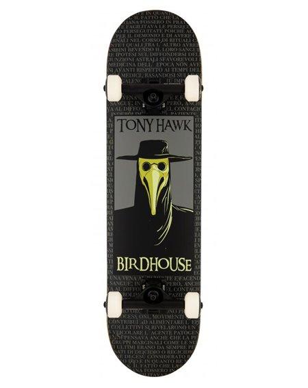"Birdhouse Skateboard Completo Plague Doctor 8"" Black"