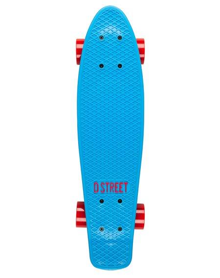 D-Street Poly Prop Skateboard Cruiser Blue/Red