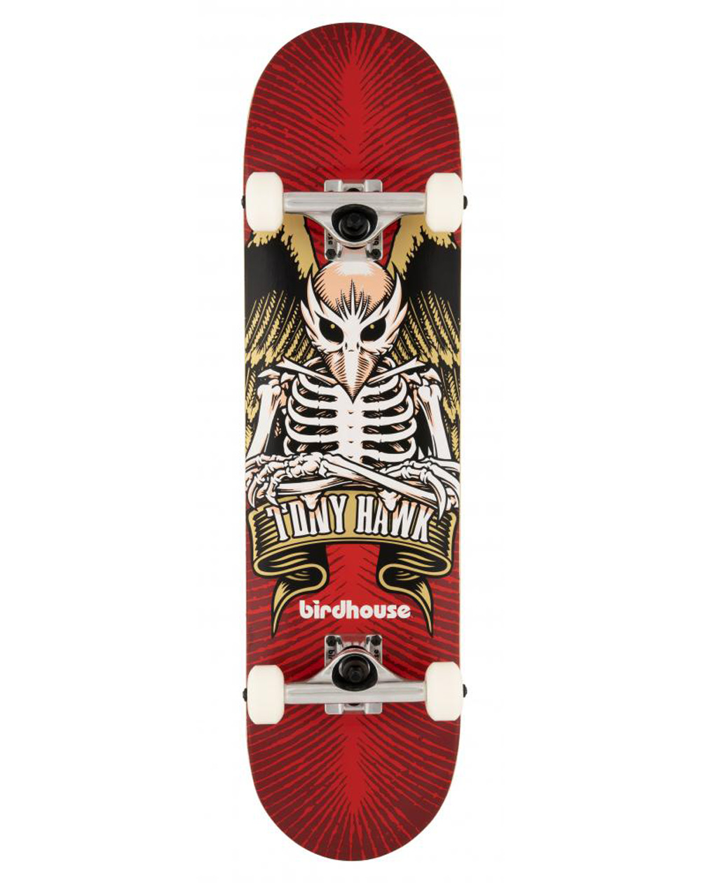 """Birdhouse TH Icon 8"""" Complete Skateboard Red"""