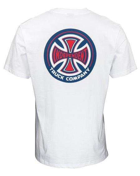 Independent Men's T-Shirt 78 Cross White