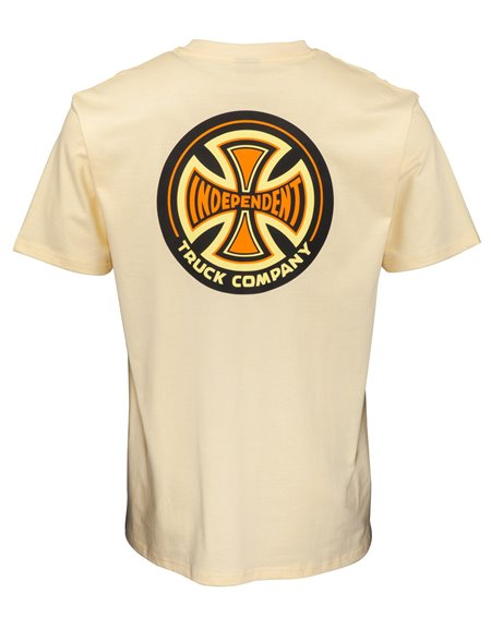 Independent 78 Cross Camiseta para Hombre Cream