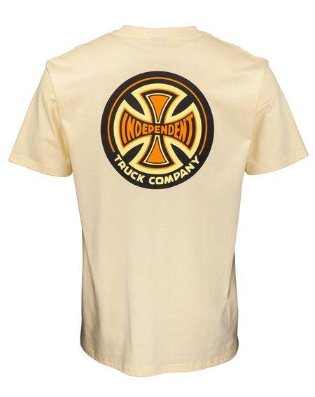 Independent 78 Cross Camiseta para Homem Cream