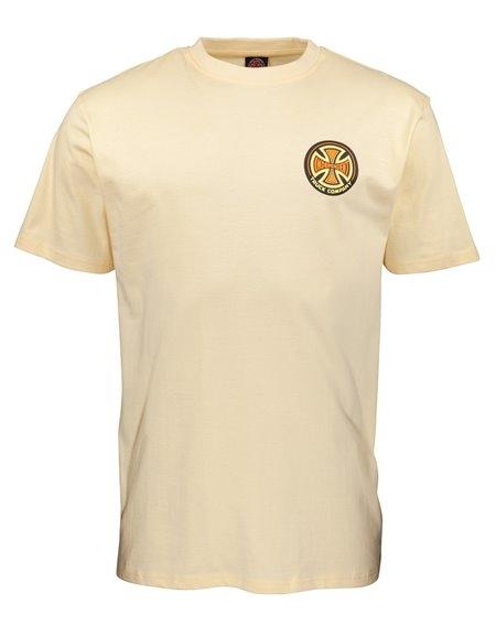 Independent 78 Cross T-Shirt Uomo Cream