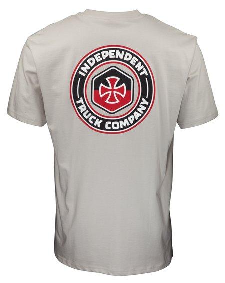 Independent Men's T-Shirt Blockade Silver