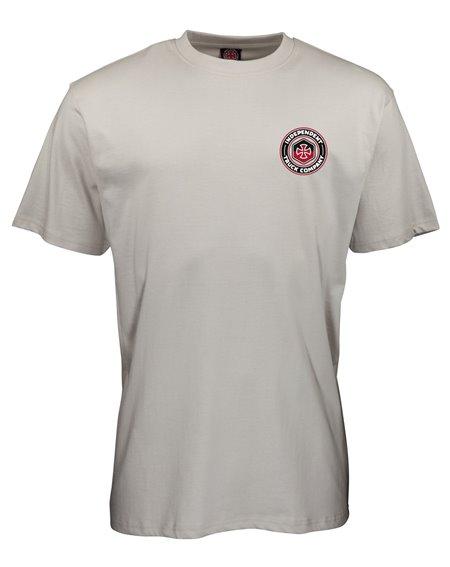Independent Blockade T-Shirt Uomo Silver