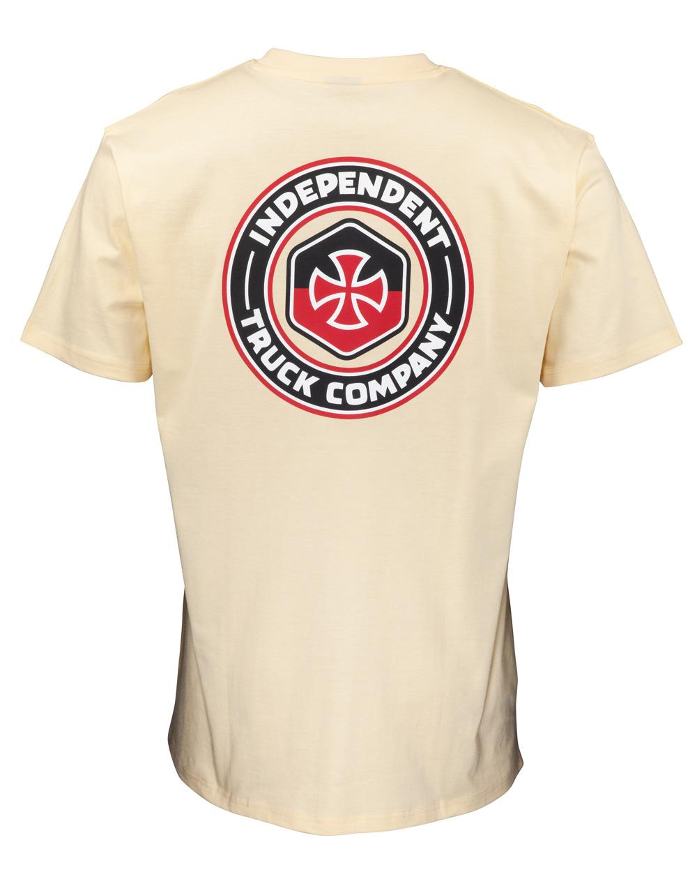 Independent Men's T-Shirt Blockade Cream