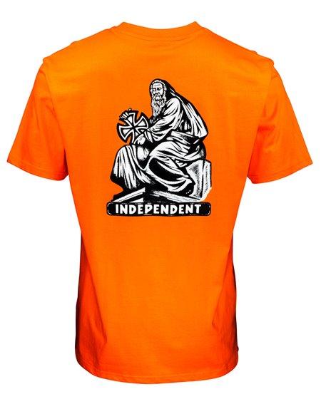 Independent Herren T-Shirt Set In Stone Orange