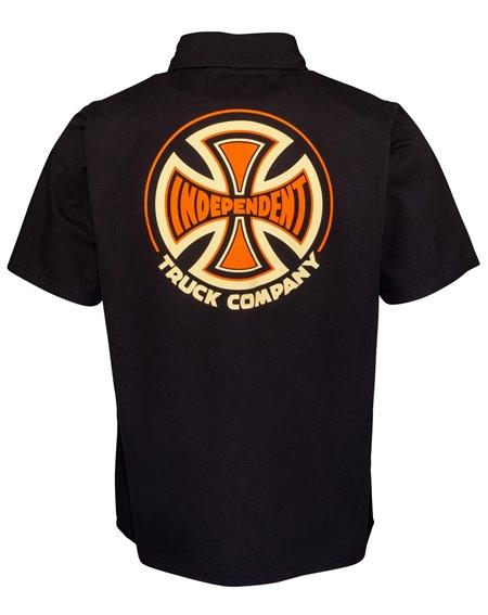 Independent 78 Cross Work Camisa para Homem Black