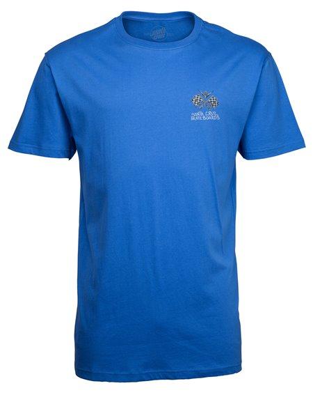 Santa Cruz Men's T-Shirt Jessee V8 Strong Blue
