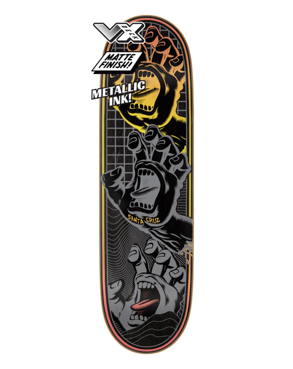 "Santa Cruz Tavola Skateboard Transcend Hands VX 8.8"""