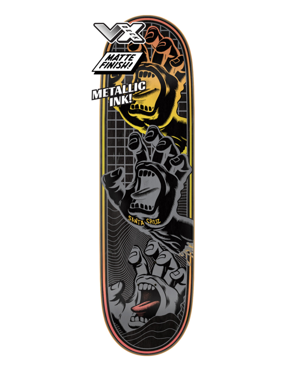 "Santa Cruz Transcend Hands VX 8.8"" Skateboard Deck"