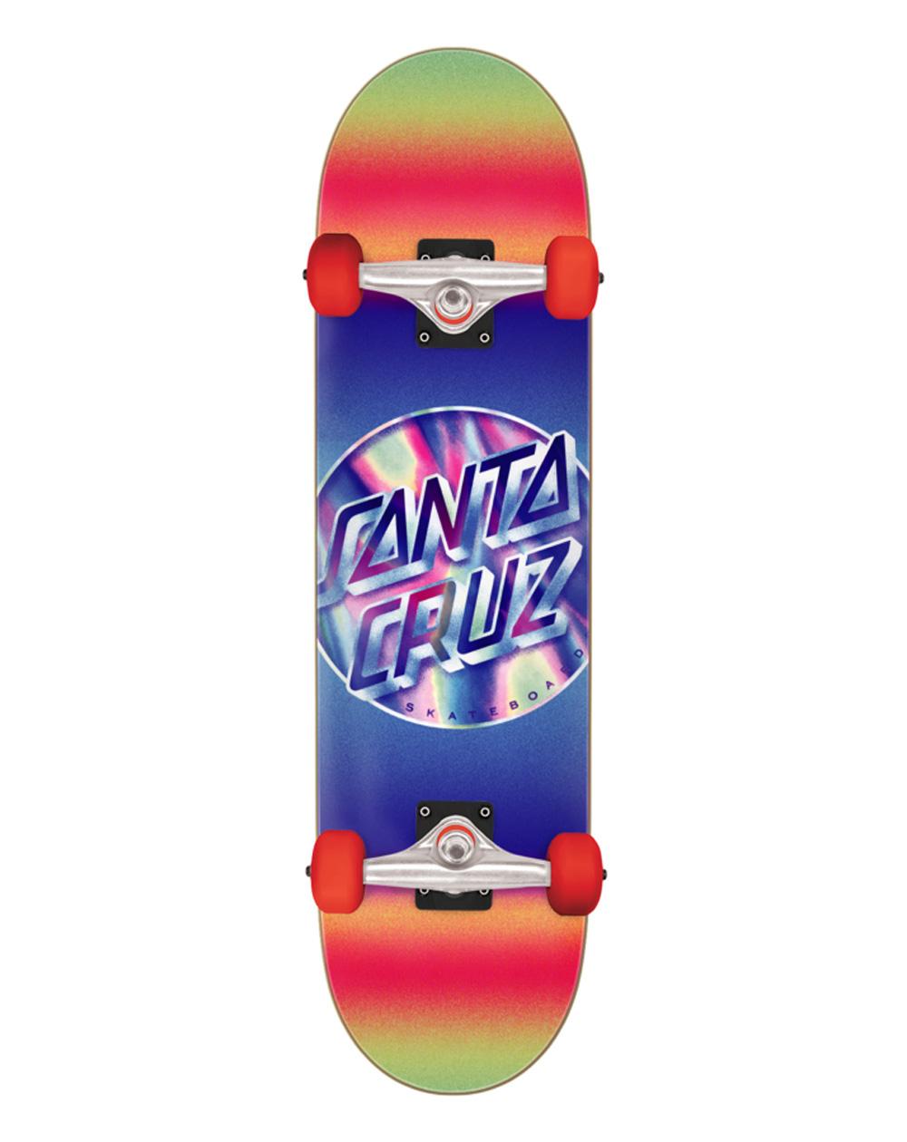 "Santa Cruz Iridescent Dot Large 8.25"" Complete Skateboard"