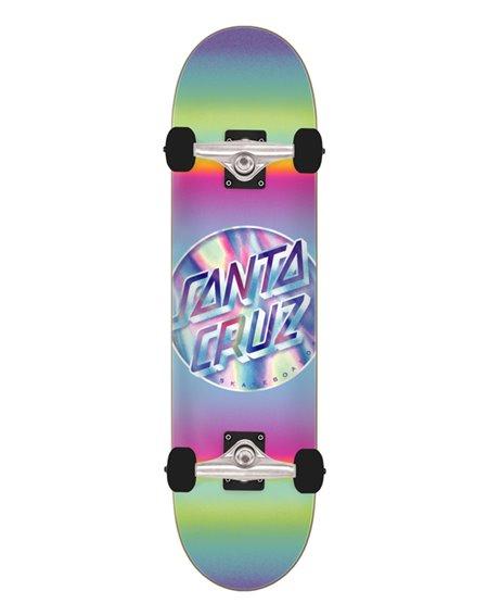 "Santa Cruz Skateboard Iridescent Dot Full 8"""
