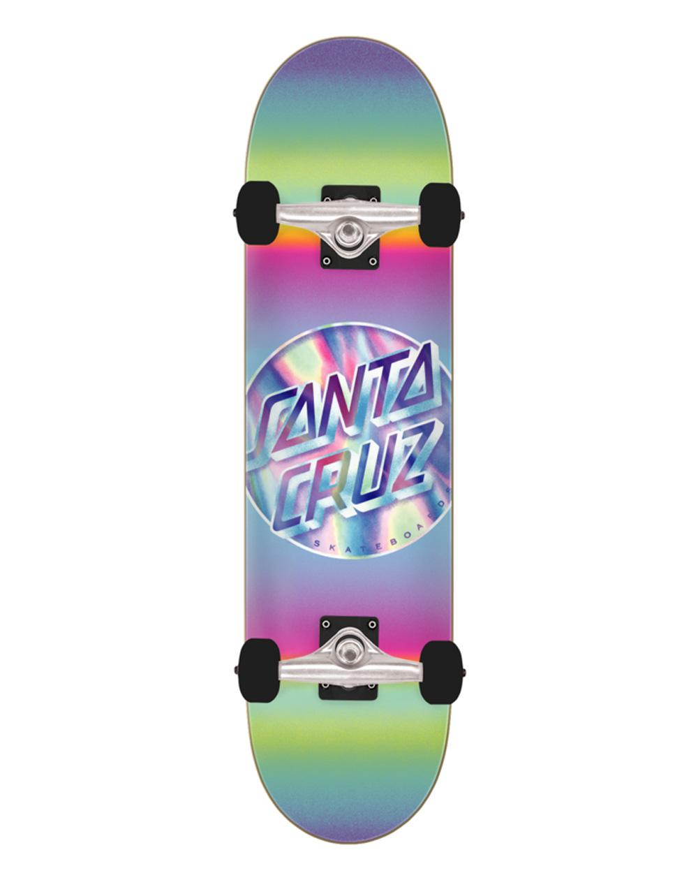 "Santa Cruz Iridescent Dot Full 8"" Complete Skateboard"