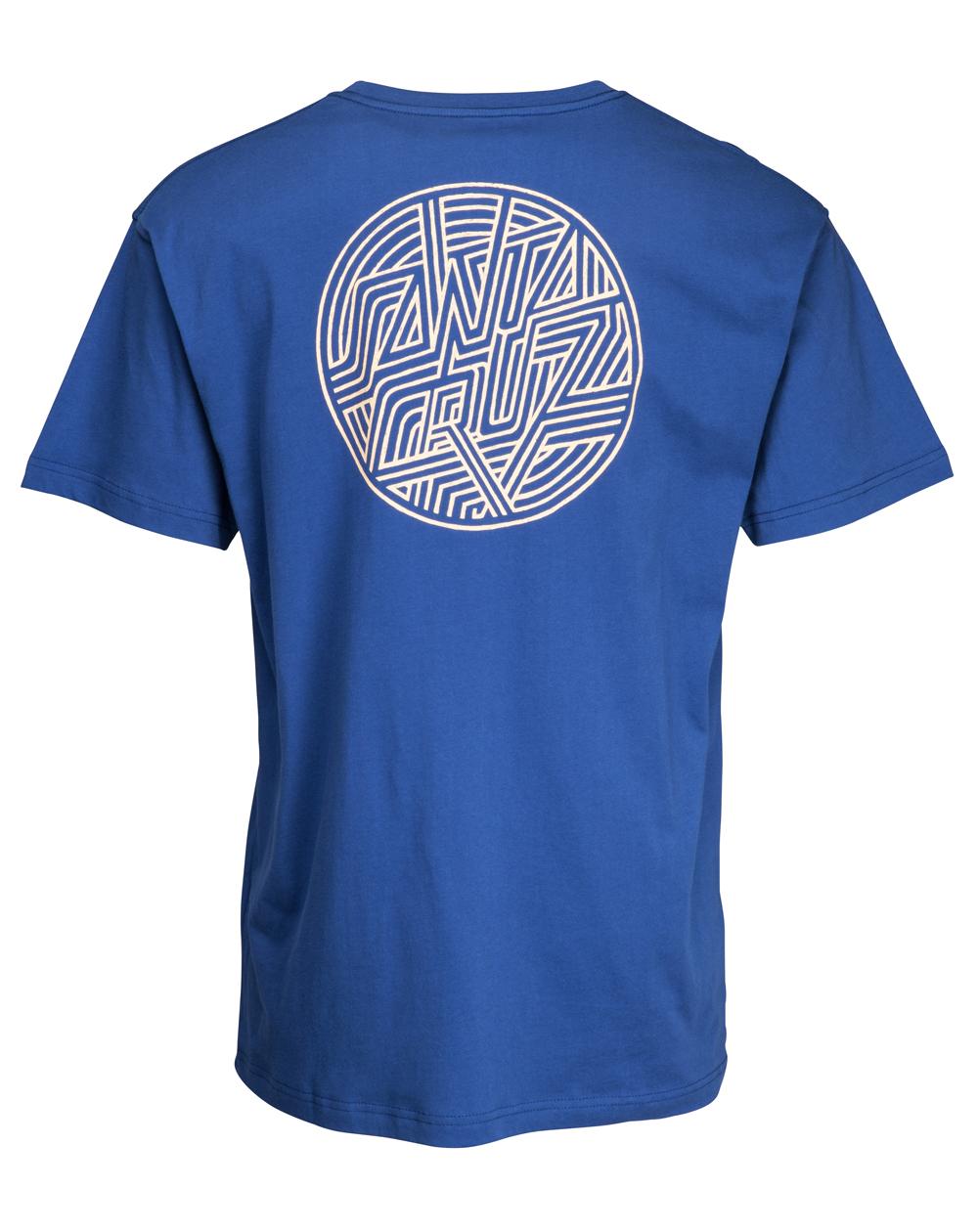 Santa Cruz Dimension Dot T-Shirt Uomo Navy