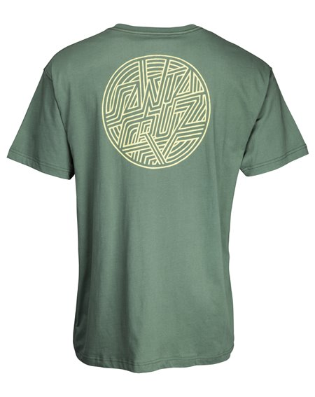 Santa Cruz Herren T-Shirt Dimension Dot Sage