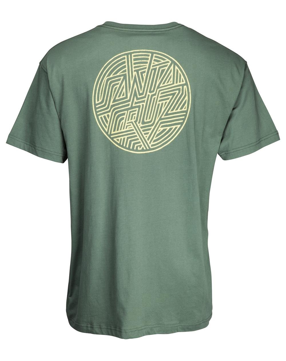 Santa Cruz Men's T-Shirt Dimension Dot Sage