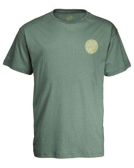 Santa Cruz Dimension Dot T-Shirt Uomo Sage