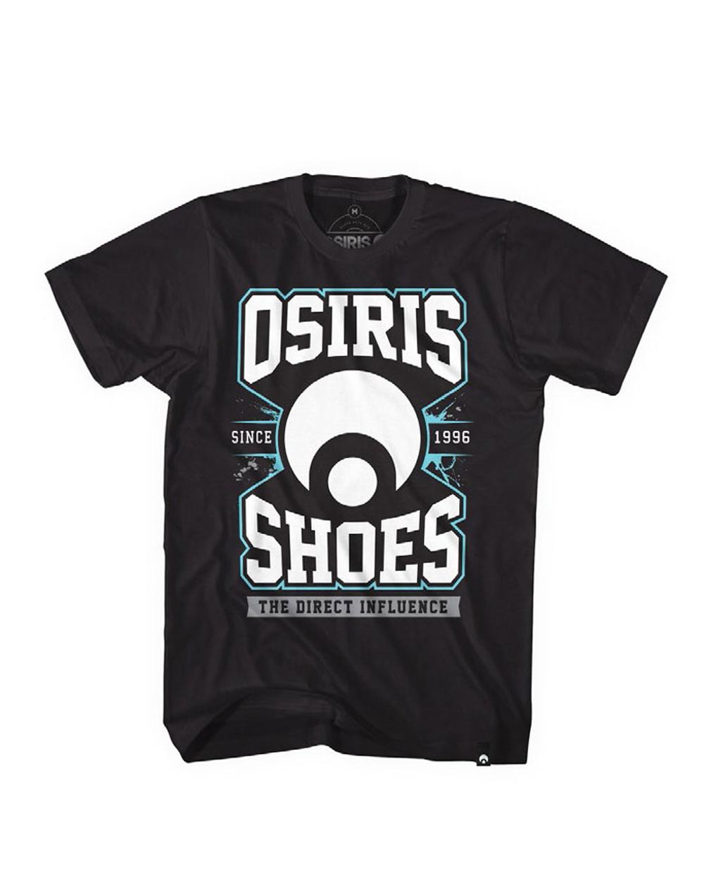 Osiris Direct T-Shirt Uomo Black
