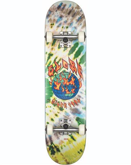 """Globe G1 Ablaze 7.75"""" Complete Skateboard Tie Dye"""