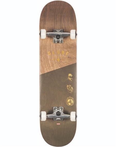 "Globe G1 Insignia 8.25"" Complete Skateboard Dark Maple/Green"