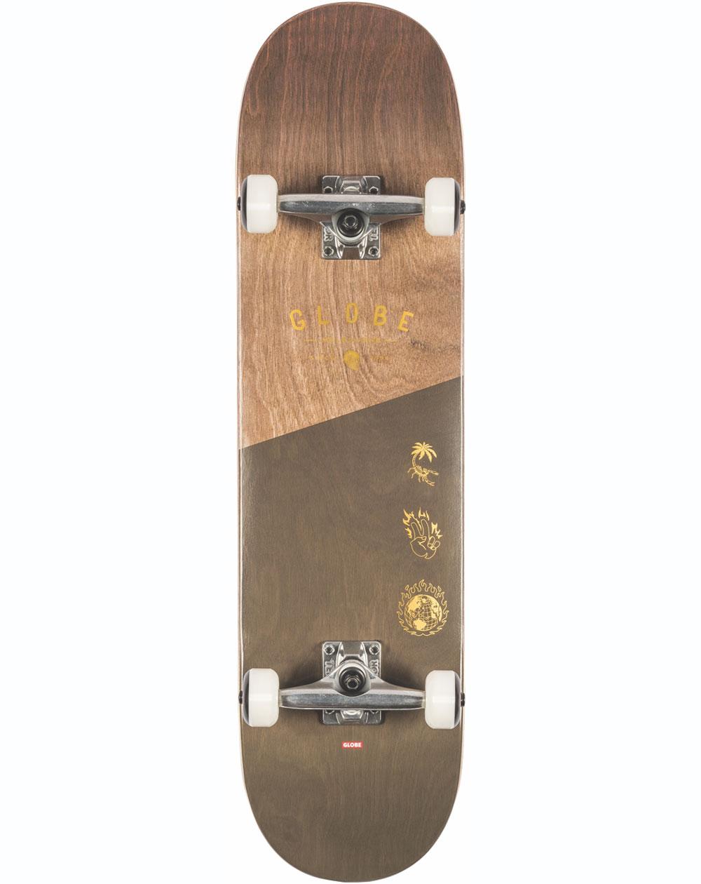 "Globe Skateboard G1 Insignia 8.25"" Dark Maple/Green"