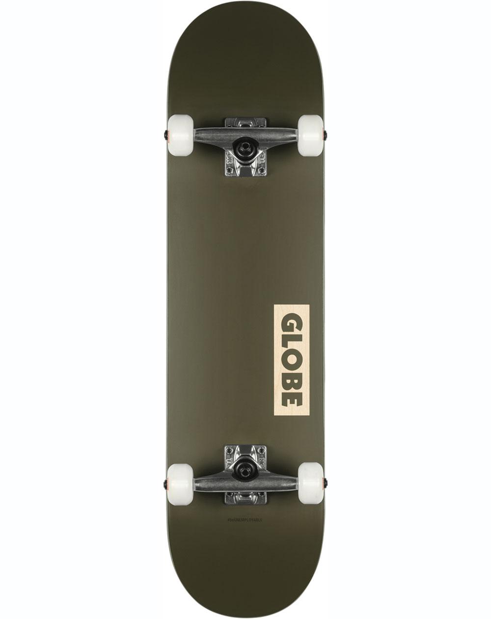 "Globe Goodstock 8.25"" Complete Skateboard Fatigue/Green"
