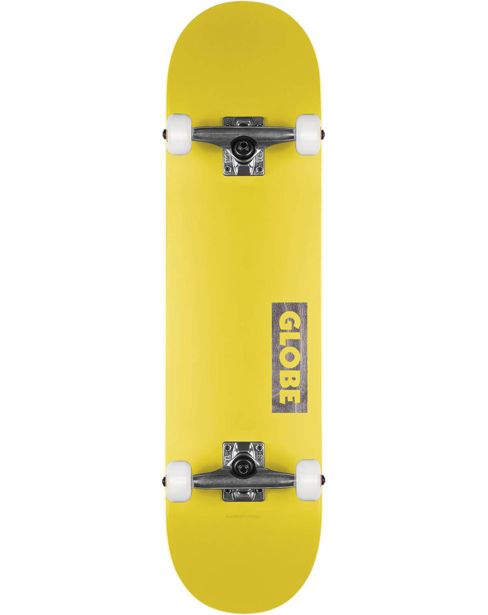 "Globe Goodstock 7.75"" Complete Skateboard Neon Yellow"