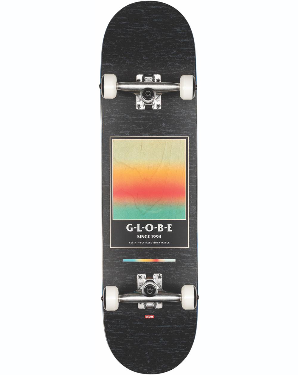 """Globe G1 Supercolor 8.125"""" Complete Skateboard Black/Pond"""