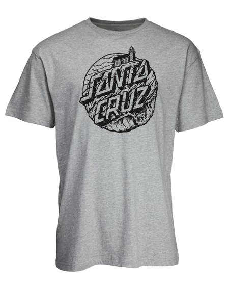 Santa Cruz Men's T-Shirt Steamer Dot Dark Heather