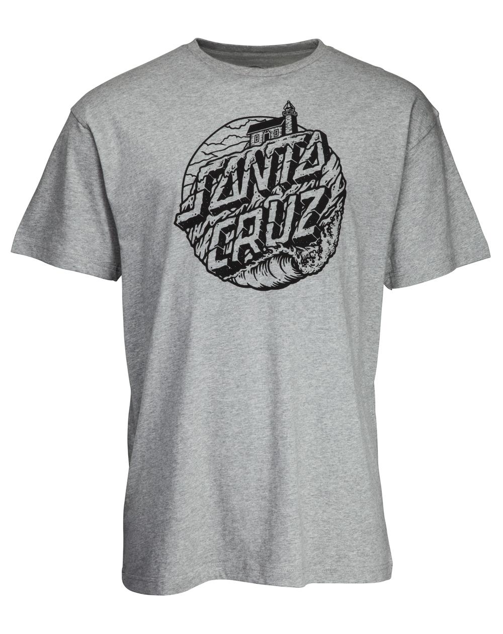 Santa Cruz Steamer Dot Camiseta para Homem Dark Heather