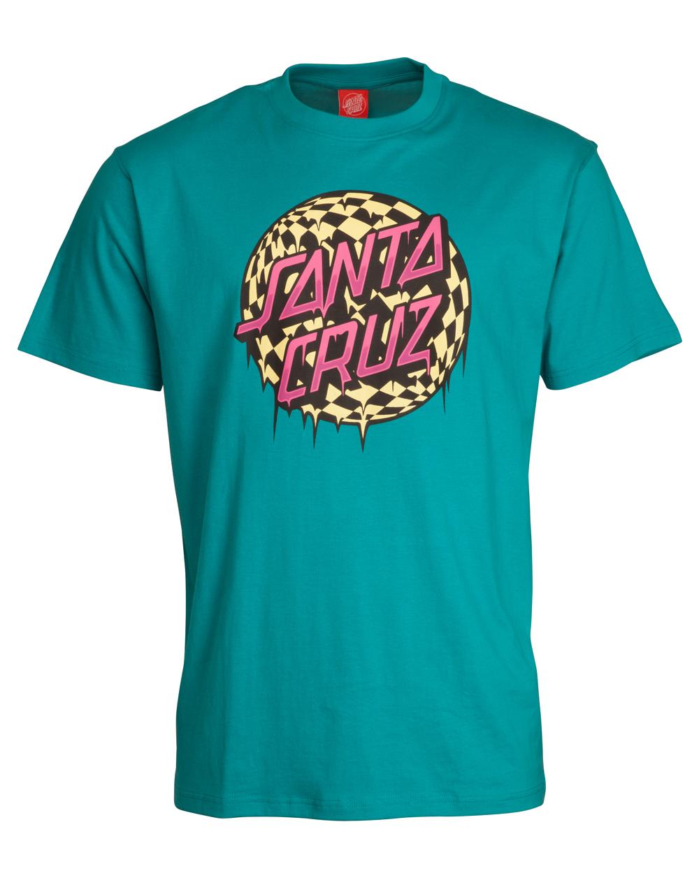 Santa Cruz Check Waste Dot T-Shirt Uomo Lake Blue
