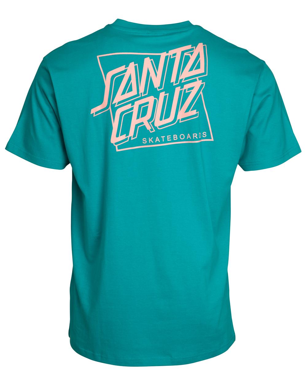 Santa Cruz Men's T-Shirt SC Squared Lake Blue
