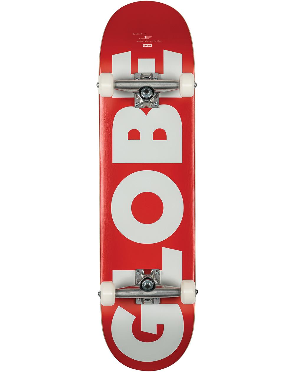 "Globe Skate Montado G0 Fubar 8.25"" Red/White"