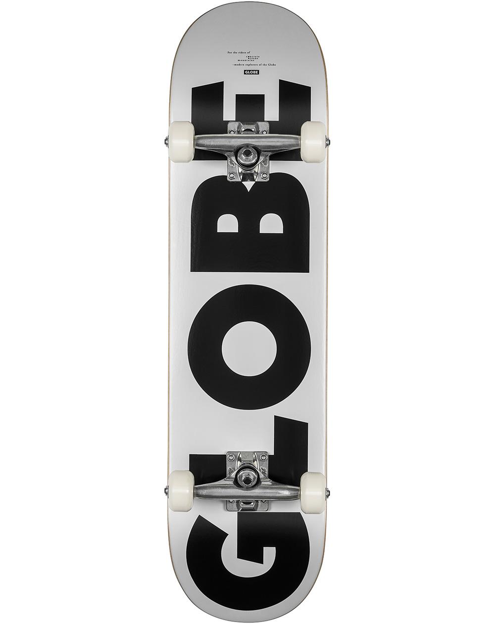 "Globe G0 Fubar 8"" Complete Skateboard White/Black"