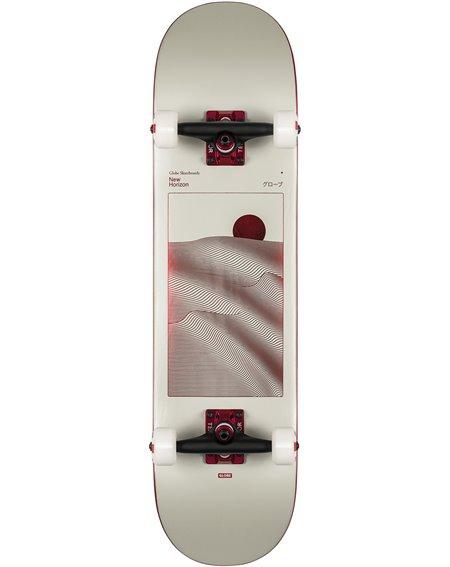 """Globe G2 Parallel 8"""" Komplett-Skateboard Off White Foil/Horizon"""