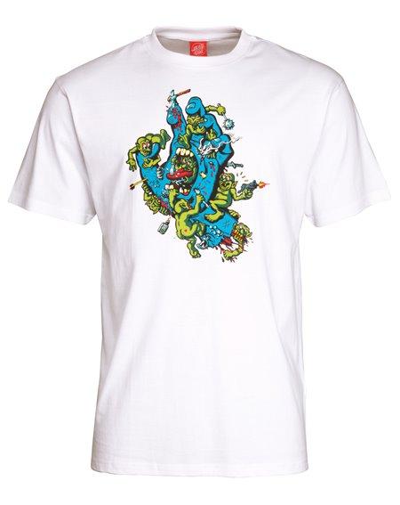 Santa Cruz Gremlin Patrol Hand T-Shirt Uomo White