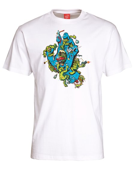 Santa Cruz Men's T-Shirt Gremlin Patrol Hand White