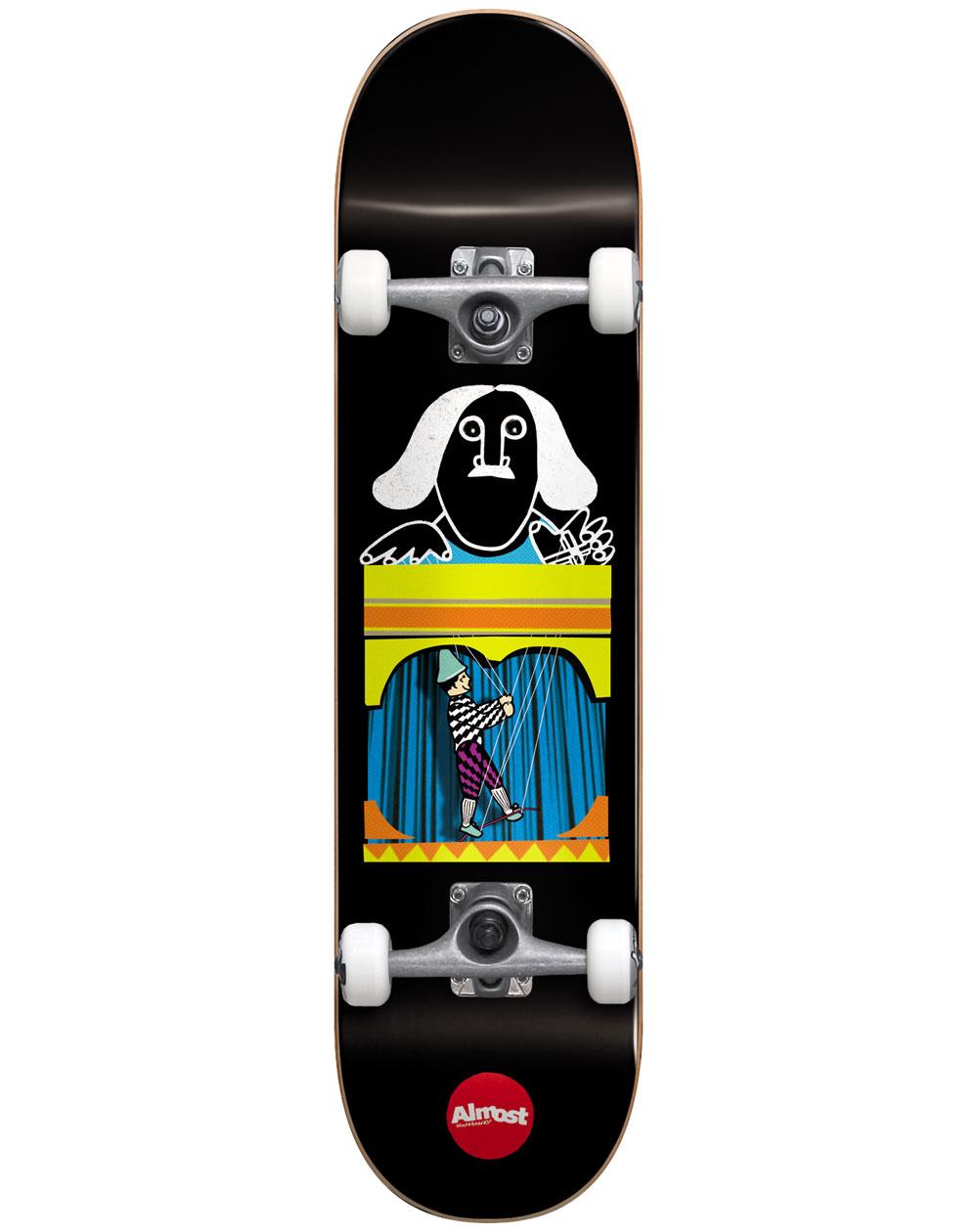 "Almost Puppet Master 8.125"" Complete Skateboard Black"