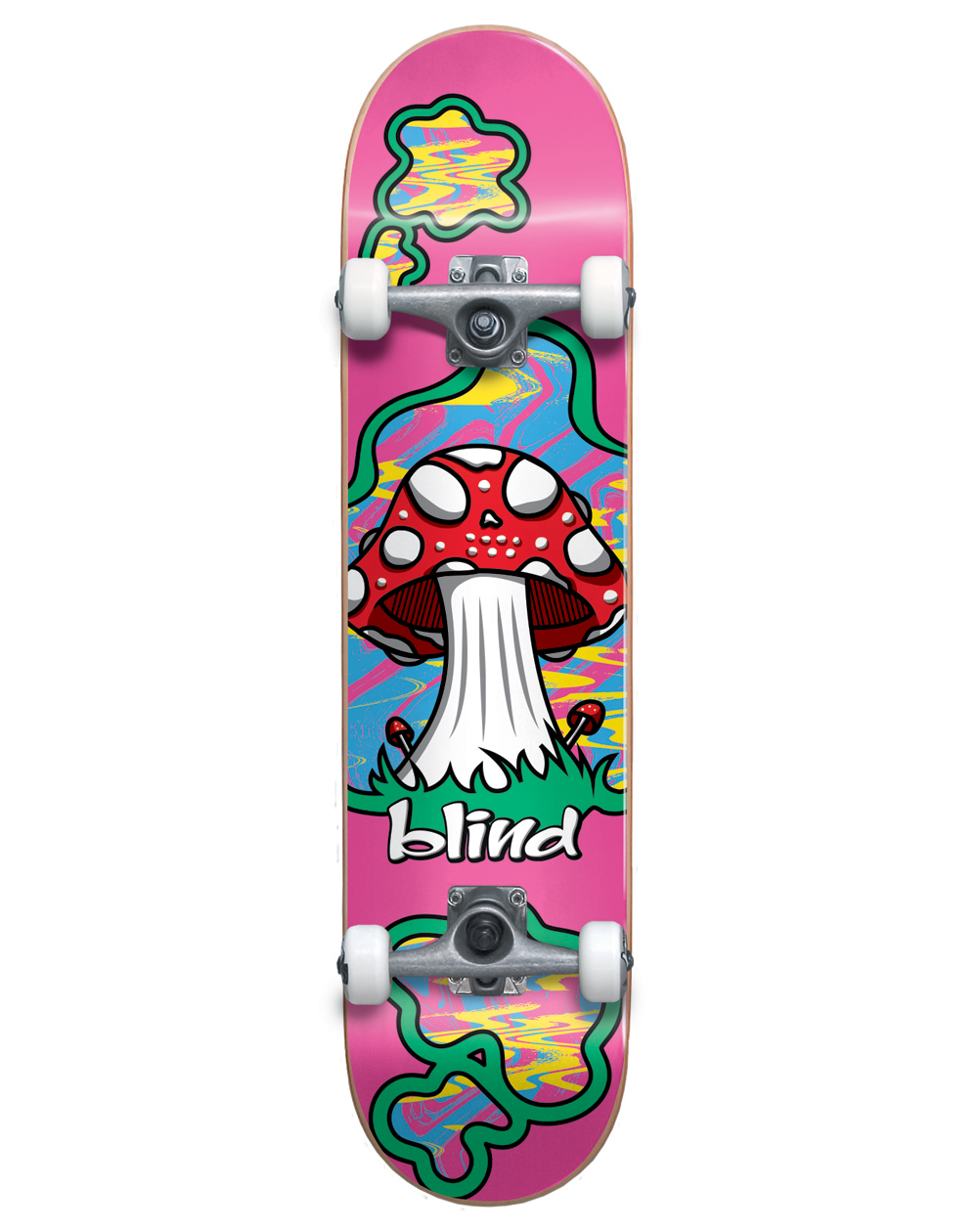 """Blind Skateboard Shroom Land 8.125"""" Pink"""