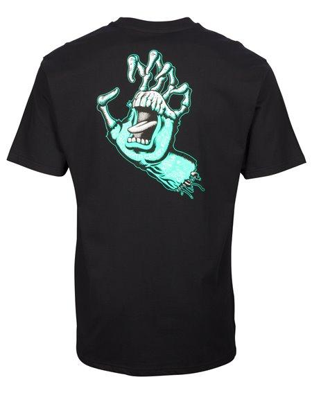 Santa Cruz Tattoo Hybrid Hand T-Shirt Homme Black