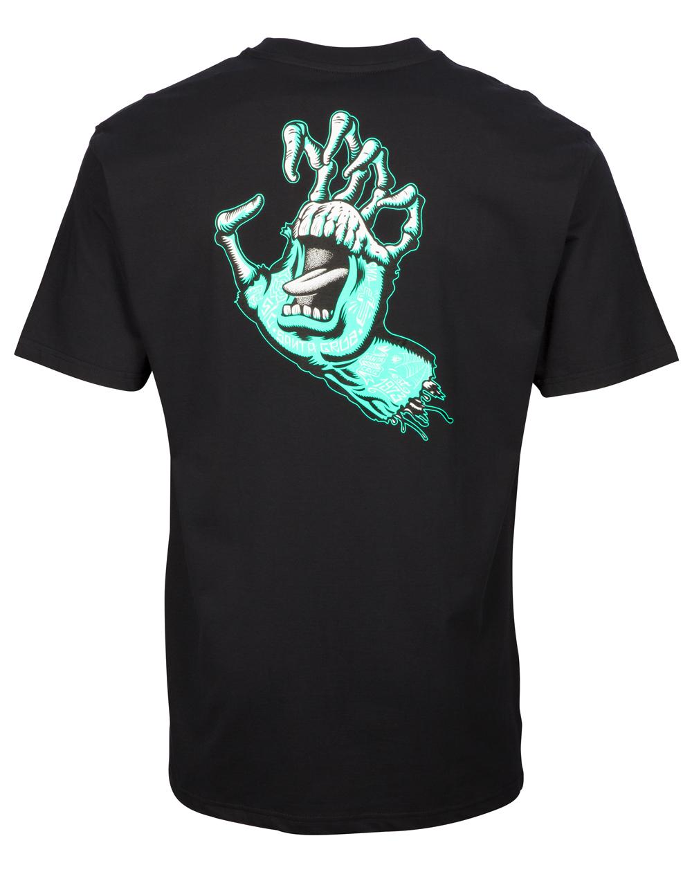 Santa Cruz Men's T-Shirt Tattoo Hybrid Hand Black