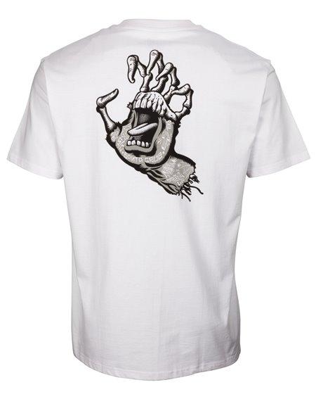 Santa Cruz Men's T-Shirt Tattoo Hybrid Hand White