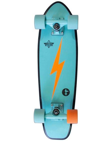 "Dusters Skate Cruiser Bird Bolt 25"" Teal"