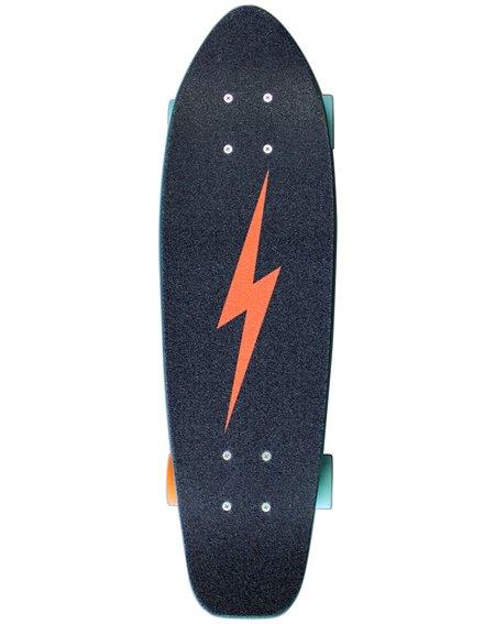 "Dusters Skateboard Cruiser Bird Bolt 25"" Teal"